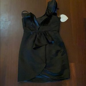 Black one shoulder VaVa cocktail dress. Size S